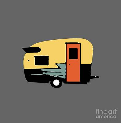 Photograph - Vintage Travel Camper Transparent by Edward Fielding