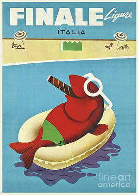 Vintage Travel Poster Italy Art Print by Mindy Sommers