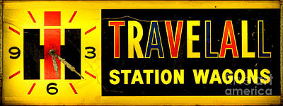 Photograph - Vintage Travelall Station Wagons Sign by Olivier Le Queinec