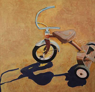 Tricycle Painting - Vintage Tricycle by Rhonda Alexander