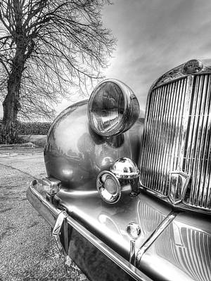 Chrome Bumper Photograph - Vintage Triumph Car by Gill Billington
