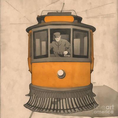 Vintage Trolley Square Art Print