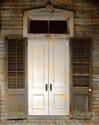 Photograph - Vintage Tropical Weathered Key West Florida Doorway by John Stephens
