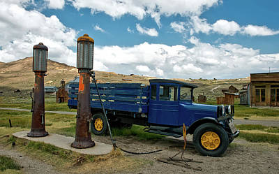 Photograph - Vintage Truck And Pumps In Bodie Ghost Town by Mountain Dreams