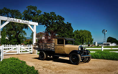 Photograph - Vintage Truck At Winery Entrance by Mountain Dreams