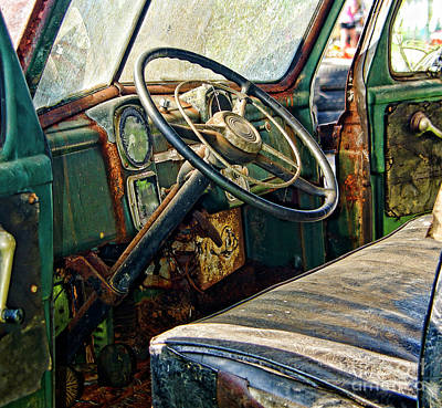 Photograph - Vintage Truck Cab  by Wilma Birdwell