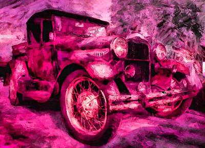Virtual Car Digital Art - Vintage Truck by Caito Junqueira