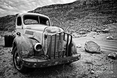 Rusty Truck Wall Art - Photograph - Vintage Truck by Delphimages Photo Creations