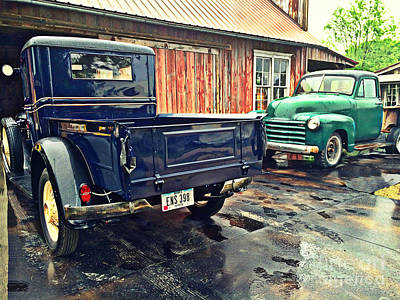 Photograph - Vintage Trucks by Kathy M Krause
