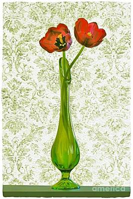Photograph - Vintage Tulips by Patricia Strand