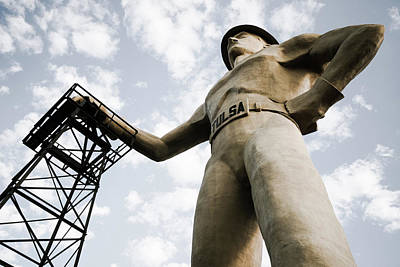 Photograph - Vintage Tulsa Driller Statue Art by Gregory Ballos