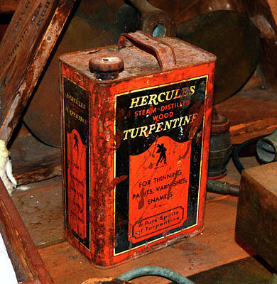Photograph - Vintage Hercules Turpentine Can by David Lee Thompson