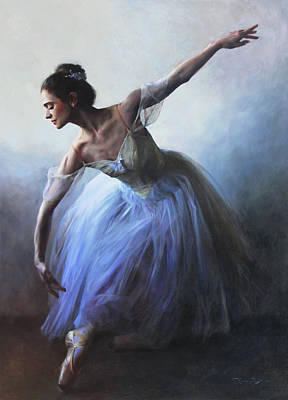 Pointe Shoes Painting - Vintage Tutu by Anna Rose Bain