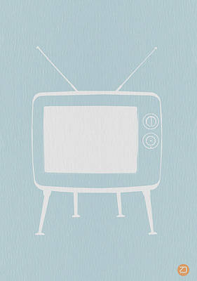 Midcentury Modern Digital Art - Vintage Tv Poster by Naxart Studio