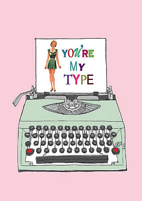 Vintage Typewriter Love Letter Art Print by Colleen VT