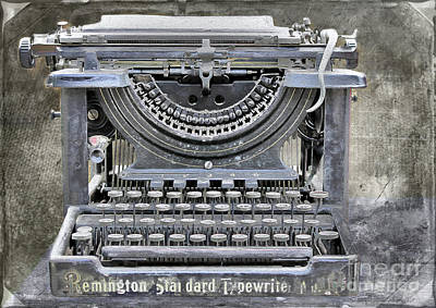 Vintage Typewriter Photo Paint Art Print