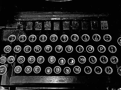 Photograph - Vintage Typewriter by Scott Hill