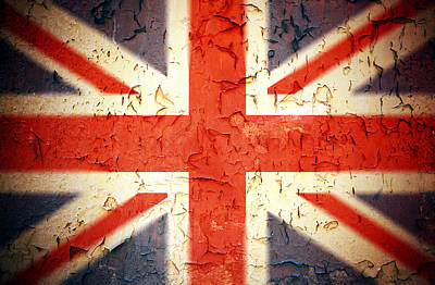 Damage Photograph - Vintage Union Jack by Jane Rix