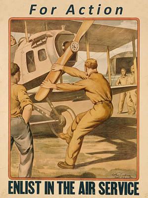 Painting - Vintage Us Air Force by Vintage Pix
