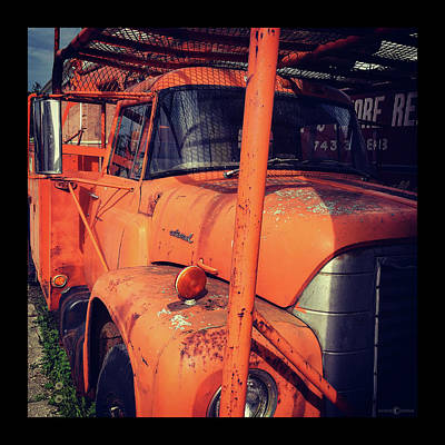 Photograph - Vintage Utility Truck by Tim Nyberg