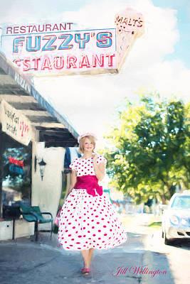 Digital Art - Vintage Val Ice Cream Parlor by Jill Wellington