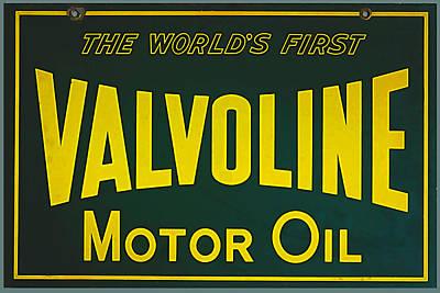 Poster Digital Art - Vintage Valvoline Motor Oil Metal Sign by Marvin Blaine