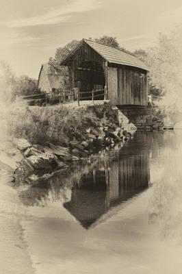 Photograph - Vintage Vermont Covered Bridge by Jeff Folger