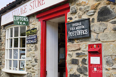 Photograph - Vintage Village Store In England by Patricia Hofmeester