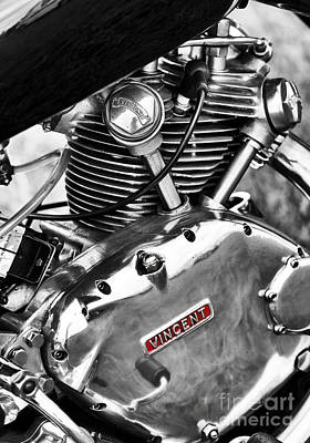 Photograph - Vintage Vincent Comet Engine by Tim Gainey