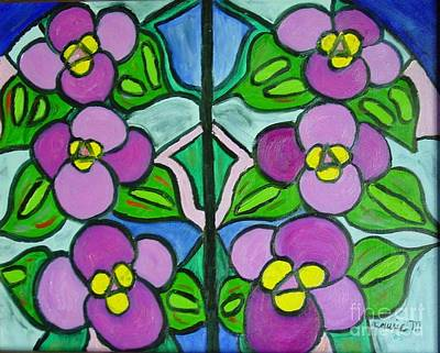 Painting - Vintage Violets by Laurie Morgan