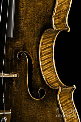 Photograph - Vintage Violin Detail by John Stephens