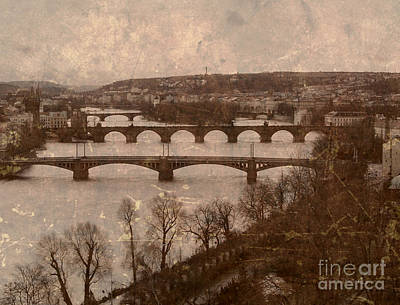 Mixed Media - Vintage Prague River 2 by Femina Photo Art By Maggie