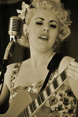 Photograph - Vintage Vocalist by Mike Martin