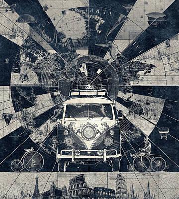 Global Digital Art - Vintage Voyager 2 by Bekim Art