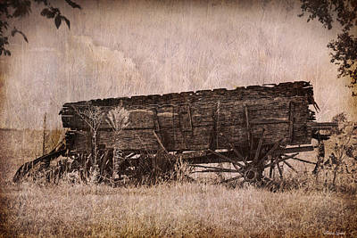 Photograph - Vintage Wagon On The Kansas Prairie by Anna Louise