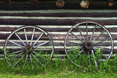 Wagon Wheels Photograph - Vintage Wagon Wheels by Donald  Erickson
