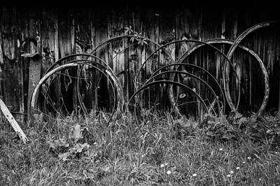 Photograph - Wagon Wheels by M G Whittingham