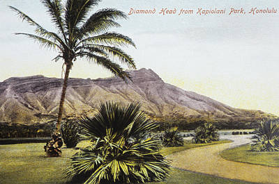 Photograph - Vintage Waikiki Postcard by Hawaiian Legacy Archive - Printscapes