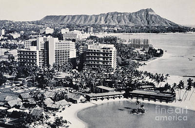 Photograph - Vintage Waikiki Scenic by Hawaiian Legacy Archive - Printscapes