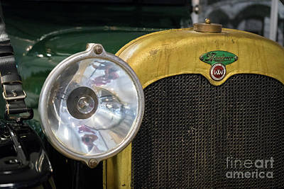 Photograph - Vintage Wanderer Auto, Hood And Lamp, Color by Vyacheslav Isaev