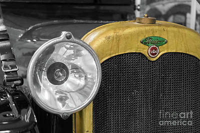 Photograph - Vintage Wanderer Auto, Hood And Lamp, Stylized by Vyacheslav Isaev