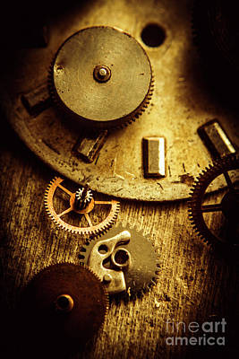Machinery Photograph - Vintage Watch Parts by Jorgo Photography - Wall Art Gallery