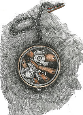 Master Piece Drawing - Vintage Watch by Ramakant Soni