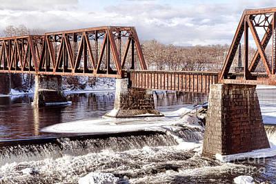 Railroad Bridge Photograph - Vintage Waterville Rail Bridge by Olivier Le Queinec