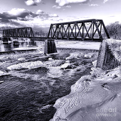 Photograph - Vintage Waterville Railroad Bridge by Olivier Le Queinec