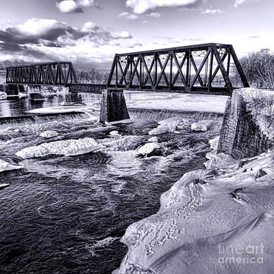 Railroad Bridge Photograph - Vintage Waterville Railroad Bridge by Olivier Le Queinec