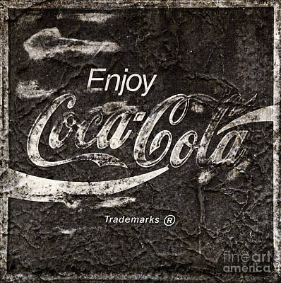 Photograph - Vintage Weathered Textured Coca Cola Sign by John Stephens