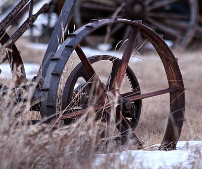 Photograph - Vintage Wheel by Ann E Robson