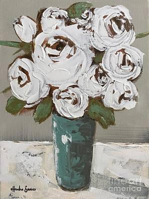 Farmhouse Painting - Vintage Whites by Chandra Savaso