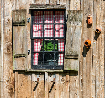 Photograph - Vintage Window Cuttalossa Farm Pa by Terry DeLuco